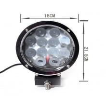 LED 12x5W prac.svetlo, 9-32V, guľaté 180mm