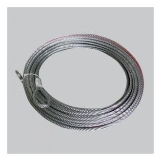 Oceľové lano 15m x 5mm s hákom